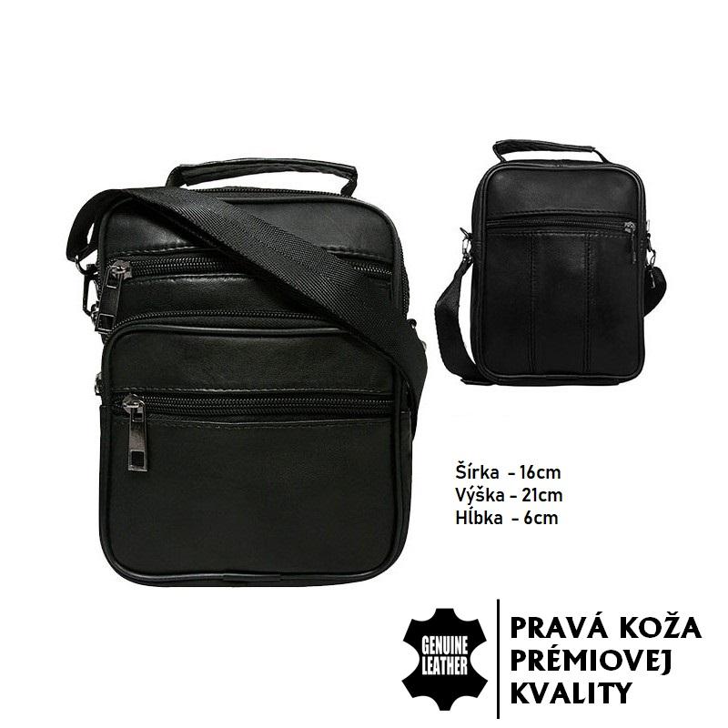 Kožená taška - čierna b88c6b2e0a9